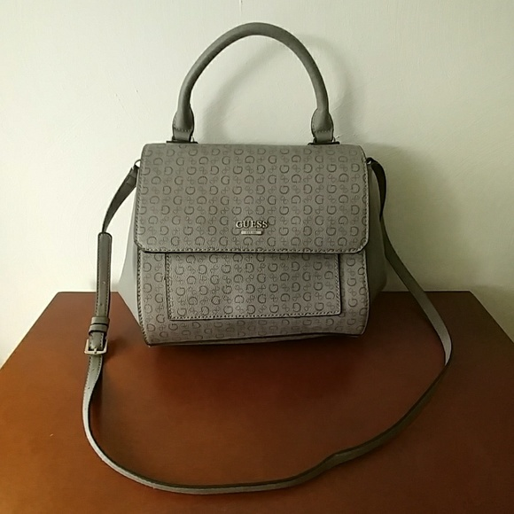 Guess Handbags - GUESS monogram handbag gray crossbody satchel 4f5b922db48f2